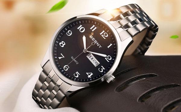 伯尼老人大数字男士手表
