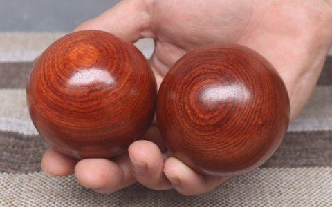 花梨木质健身保健手握球