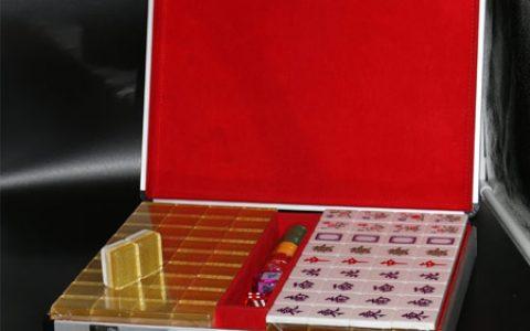 抖音同款金丝水晶麻将礼盒